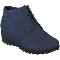 Chaussures Femme Bottines Mephisto Bottine velours ATHINA Bleu