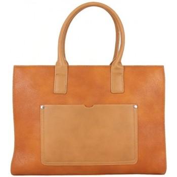 Sacs Femme Cabas / Sacs shopping Fuchsia Sac à main cabas  F1598-10 Camel Camel