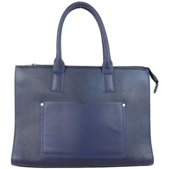 Sacs Femme Cabas / Sacs shopping Fuchsia Sac à main cabas  F1598-10 Bleu Marine Multicolor
