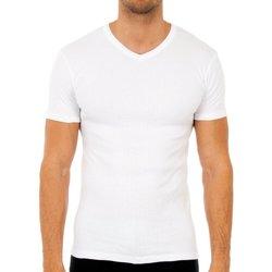 Sous-vêtements Homme Maillots de corps Abanderado Pack-3 t-shirts m / short thermique Blanc