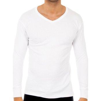 Sous-vêtements Homme Maillots de corps Abanderado Pack-3 t-shirts quelque chose. col en V Blanc