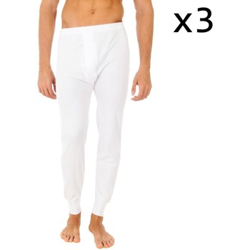 Sous-vêtements Homme Caleçons Abanderado Pack-3 caleçons longs thermiques Blanc