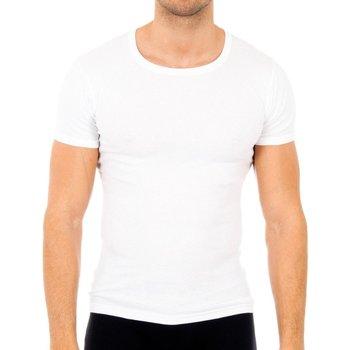 Sous-vêtements Homme Maillots de corps Abanderado Pack-6 cab courtes T-shirts manches Blanc