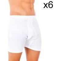Sous-vêtements Homme Boxers Abanderado Pack-6 100% classique boxeur de coton Blanc