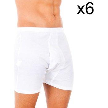 Sous-vêtements Homme Boxers Abanderado Pack-6 boxer 100% coton classique Blanc