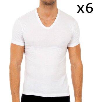 Sous-vêtements Homme Maillots de corps Abanderado Pack-6 t-shirts à manches courtes Blanc