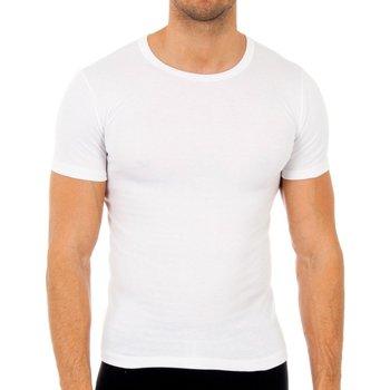 Sous-vêtements Homme Maillots de corps Abanderado Pack 3-shirts en fibre m / c blanc Blanc