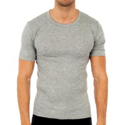 Sous-vêtements Homme Maillots de corps Abanderado Pack 3-shirts en fibre m / c gris Gris
