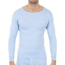 Sous-vêtements Homme Maillots de corps Abanderado Pack 3-shirts en fibre m / l celeste Bleu