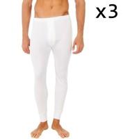 Sous-vêtements Homme Caleçons Abanderado Pack-3 pantalon intérieur des fibres longues Blanc
