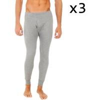 Sous-vêtements Homme Caleçons Abanderado Pack-3 pantalon intérieur des fibres longues Gris