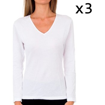 Sous-vêtements Femme Maillots de corps Abanderado Lot de 3 t-shirts Liberty M / L blanc Blanc