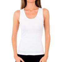 Sous-vêtements Femme Maillots de corps Abanderado Pack 3 sangles shirt en coton Blanc
