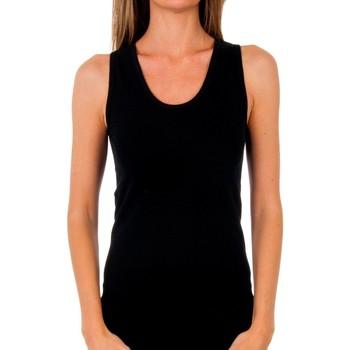 Sous-vêtements Femme Maillots de corps Abanderado Pack-3 t-shirt sra tirant. coton Noir