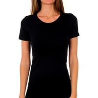 Sous-vêtements Femme Maillots de corps Abanderado Pack-3 t-shirt en coton sra m / c Noir