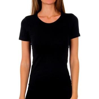 Sous-vêtements Femme Maillots de corps Abanderado Pack-3 Mme T m / c coton Noir