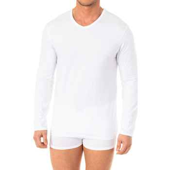 Sous-vêtements Homme Maillots de corps Abanderado T-shirt X-Temp m / long Blanc