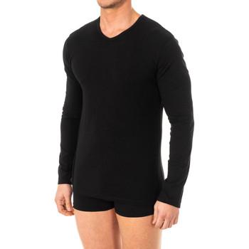 Sous-vêtements Homme Maillots de corps Abanderado T-shirt X-Temp m / long Noir