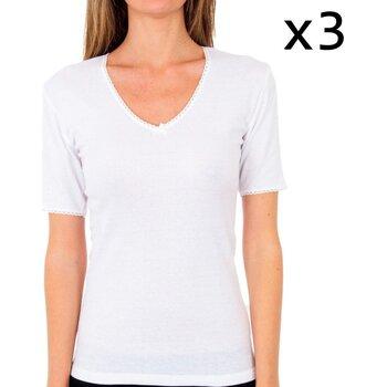 Sous-vêtements Femme Maillots de corps Abanderado Mme T Pack 3 m / c thermique Blanc