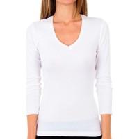 Sous-vêtements Femme Maillots de corps Abanderado Pack 3 t-shirt sra m / l thermique Blanc
