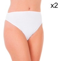 Sous-vêtements Femme Slips Abanderado Culotte Liberty Pack-2 Blanc