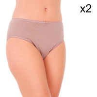 Sous-vêtements Femme Slips Abanderado Culotte Liberty Pack-2 Marron
