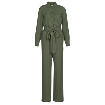 Vêtements Femme Combinaisons / Salopettes MICHAEL Michael Kors ROLL SLV SAFARI JMPST Kaki