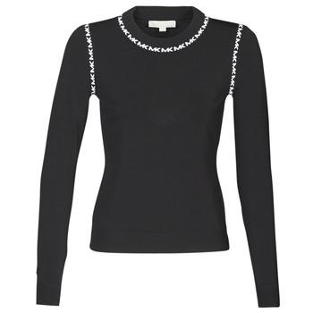 Vêtements Femme Pulls MICHAEL Michael Kors MK TRIM LS CREW Noir