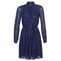 Vêtements Femme Robes courtes MICHAEL Michael Kors BOLD BENGAL TIER DRS Bleu / Noir
