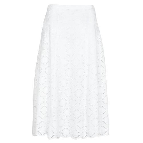 Vêtements Femme Jupes MICHAEL Michael Kors FLORAL EYLT LNG SKIRT Blanc