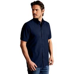 Vêtements Homme Chemises manches courtes Promodoro Chemise Business manches courtes Hommes bleu marine