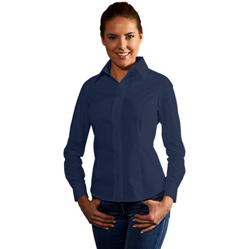 Vêtements Femme Chemises / Chemisiers Promodoro Chemise Business manches longues Femmes bleu marine