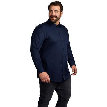 Vêtements Homme Chemises manches longues Promodoro Chemise Business manches longues grandes tailles Hommes bleu marine