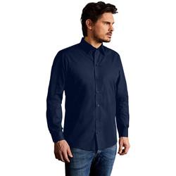 Vêtements Homme Chemises manches longues Promodoro Chemise Business manches longues Hommes bleu marine