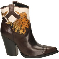 Chaussures Femme Bottines Oasi Private Collection STIVALETTI tequila-senape-bianc