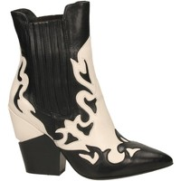 Chaussures Femme Bottines Oasi Private Collection STIVALETTI nero-bianco