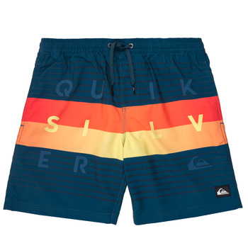 Vêtements Garçon Maillots / Shorts de bain Quiksilver WORD BLOCK VOLLEY YOUTH Bleu