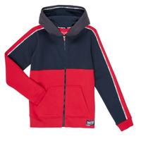 Vêtements Garçon Sweats Teddy Smith AMY Rouge / Marine
