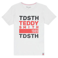 Vêtements Garçon T-shirts manches courtes Teddy Smith DUSTIN Blanc