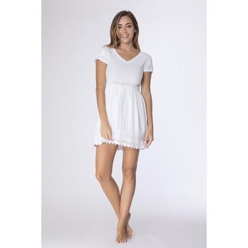 Vêtements Femme Robes courtes La Cotonniere ROBE DAVINA Blanc