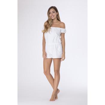 Vêtements Femme Combinaisons / Salopettes La Cotonniere COMBI-SHORT SONIA Blanc