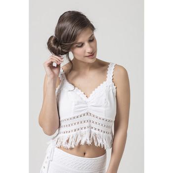 Vêtements Femme Tops / Blouses La Cotonniere TOP INGRID Blanc