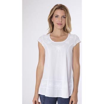 Vêtements Femme Tuniques La Cotonniere TUNIQUE SARA Blanc