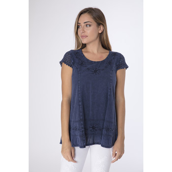 Vêtements Femme Tuniques La Cotonniere TUNIQUE SARA Bleu