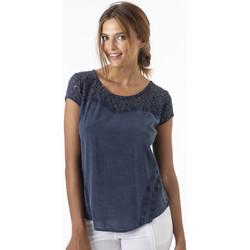 Vêtements Femme Tops / Blouses La Cotonniere HAUT AURELIE Bleu