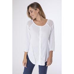 Vêtements Femme T-shirts manches longues La Cotonniere CHEMISE DOLY Blanc