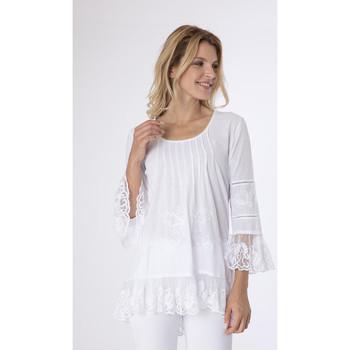 Vêtements Femme Tuniques La Cotonniere TUNIQUE ESTELA Blanc
