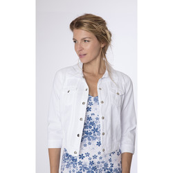Vêtements Femme Blousons La Cotonniere BLOUSON KATRINA Blanc