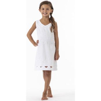 Vêtements Fille Robes courtes La Cotonniere ROBE DAISY Blanc