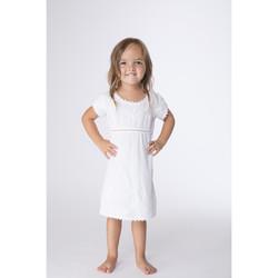 Vêtements Fille Robes courtes La Cotonniere ROBE PATSY Blanc